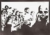 The Walking Dead Poster Plakat Handmade Graffiti Street Art - Artwork