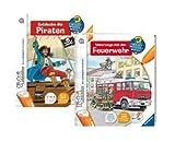 Tiptoi Buch Entdecke die Welt der Piraten und 005819 Unterwegs mit der Feuerwehr 9120055081258