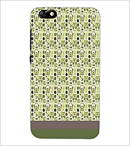 PrintDhaba Owl pattern D-1872 Back Case Cover for HUAWEI HONOR 4X (Multi-Coloured)