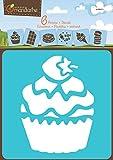 Set 6 Schablonen Kuchen