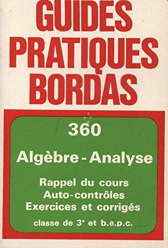 Algèbre, analyse