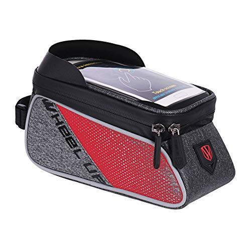 Symboat Fahrrad Aufbewahrungstasche Wasserfest Radsport Taschen Schutzhülle für iPhone 8 Plus Samsung Galaxy S7 - Rot