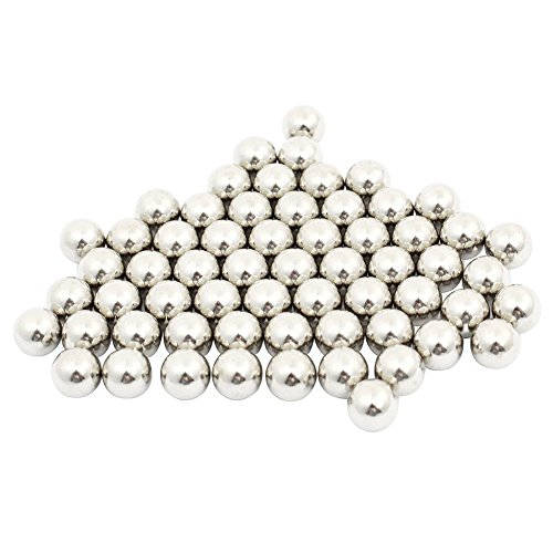 2MM 50pcs NANAD Dia Bearing Balls Stainless Steel Balls Dia Bicycle Steel Bearing Ball for Airsoft or Ball Bearings 2mm 3mm 4mm 5mm 6mm ,Silver
