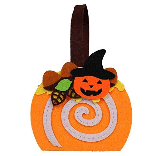 Halloween Zubehör Kürbis Tasche Vlies Kinder Handtasche Kostüm Party Dekoration ()