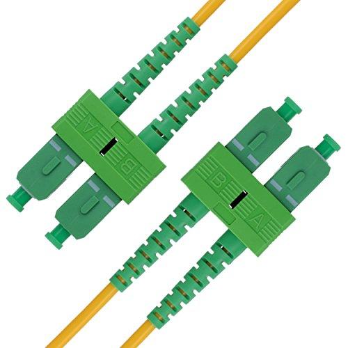 Cable de Fibra Óptica SC a SC 15M Monomodo Duplex - APC...