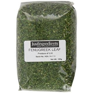 JustIngredients Bockshornkleeblätter, Fenugreek Leaves, 5er Pack (5 x 100 g)