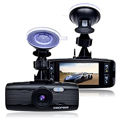 "Toguard 1080P Car DVR Dash Camera with OBD Diagnosis Scanner 2.7"" LCD,Motion Detection,WDR,Loop Recording,Parking Monitor,G-Sensor"