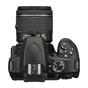 """Nikon D3400 + 18-55 AFP DX VR, Cámara réflex digital de 24,2 Mp (pantalla LCD 3"""", objetivo estabilizado, inalámbrica con Snapbridge, vídeo Full HD), color negro [Versión Española, acceso al club Nikonistas y 6 cursos de regalo]"""