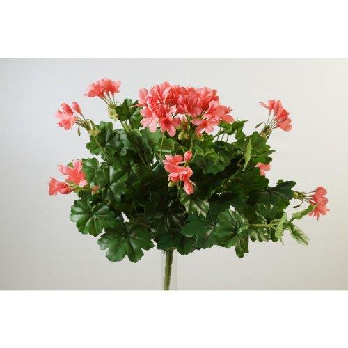 Künstliches Geranium Österreich auf Steckstab, rosa, 40cm, Ø 40cm – Kunstgeranien Kunstblumen Geranien