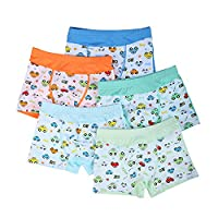 Little Boys' Cars Printed Boxer Briefs (Pack of 5) Size M