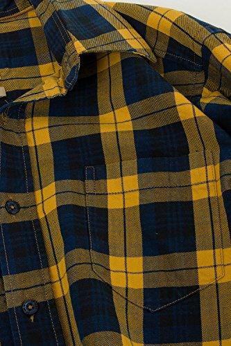 JP 1880 Homme Grandes tailles Chemise à carreaux 700976 moutarde