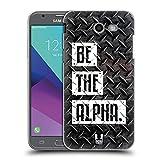 Head Case Designs Be The Alpha Fitness Typographie Ruckseite Hülle für Samsung Galaxy J3 Emerge