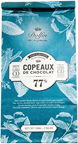 Dolfin Trinkschokolade-Flocken 77% Beutel 200 g