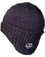 Mens Boys German Style Beanie Hat Black
