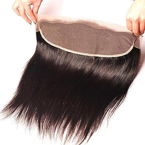 Meydlee Extension Posticci Fatto a mano 14 * 4 Straight Lace capelli umani chiusura 90 (10 Straight Modello)