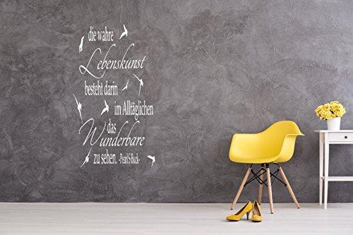 a-pk136 Wandtattoo Wohnzimmer Wandtatoo Arbeitszimmer Büro Spruch Zitat Lebenskunst besteht