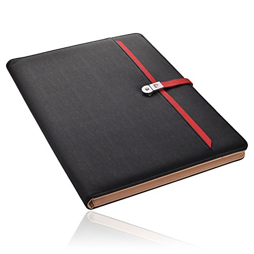 PIERRE CARDIN Schreibmappe A4 mit USB Stick (Ipad Fach) Beratungs-Mappe mit Tablet-Fach Besprechungs-Mappe Dokumenten-mappe Ordnungsmappe Dokumententasche Arbeitsmappe Organizer-Tasche DIMITRI