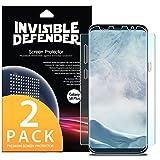 Protection écran Samsung Galaxy S8 Plus, Invisible Defender [Couverture intégrale][2-Pack] Garantie de couverture incurvée bord à bord [Compatible avec Coque] Protecteur d'écran Film HD Transparent Super mince