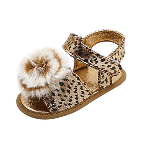 Bild von Jamicy® Baby Sandalen, Baby Mädchen Leopard Ball Weiche Sohle Anti-Rutsch-Sommer Sandalen Schuhe