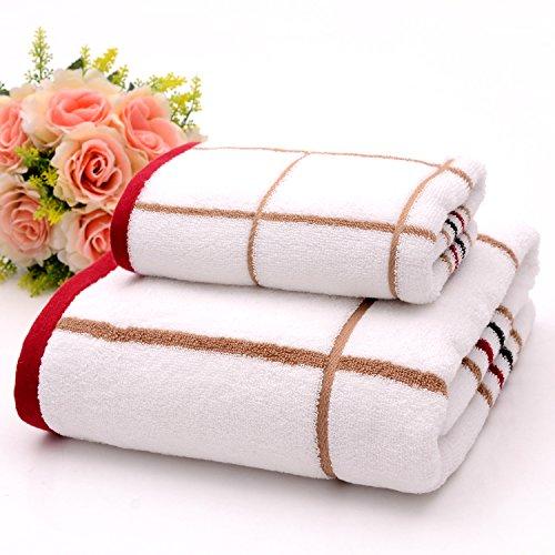 DANCICI Baumwollhandtuch Handtuch Handtuch Anzug Baumwolle Erwachsene Männer und Frauen eingewickelt Brust zu erhöhen Badetuch, 6455 gelb 6918 rot