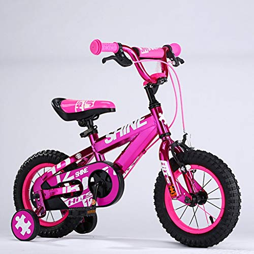 HYCy Children's Bicycles, 3-6 Years Old Boys and Girls Bikes, 14 Inches, for Height 90-120cm