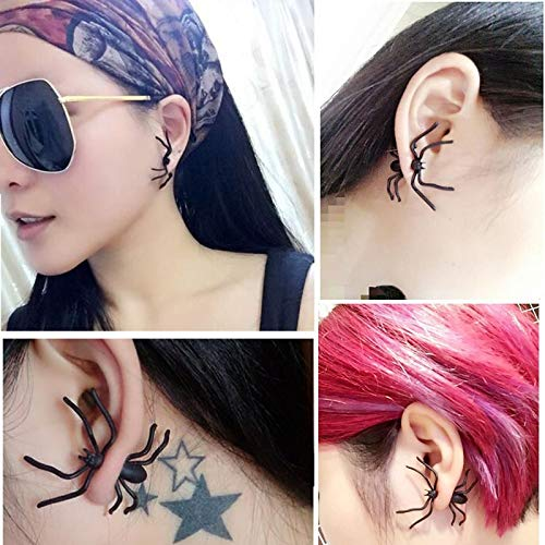 ack Spider Ohrstecker Halloween Dekoration Cosplay Partei Karneval Lustige Phantasie Ohrringe Kühle Erwachsene 1 stücke ()