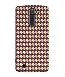 PrintVisa Designer Back Case Cover for LG K7 :: LG K7 Dual SIM :: LG K7 X210 X210DS MS330 :: LG Tribute 5 LS675 (Square Check Matty Cross Block Pink)
