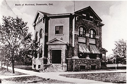 poster-reproduction-postcard-bank-montreal-now-town-hall-corner-centre-main-streets-deseronto-lookin
