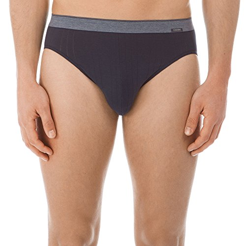 Calida Herren Pure & Striped Slip Grau (Onyx 808)