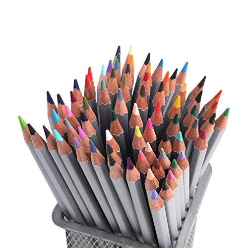 Matite colorate, 72 matite colorate per Secret Garden Adulti Libri da colorare colorate matita matite Set Art Disegno di colore Insieme scrivere, disegnare e schizzi Scrivi Bell (72)