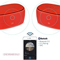 Xcellent Global Smart Music 1+1 Bluetooth Speaker NFC Wireless pairing,3D Surround Sound,Stereo,High Definition Audio,Verbesserte Bass,AUX TF Freisprech ideal für Väter Freund Weihnachtsgeschenk, Rot PC022R