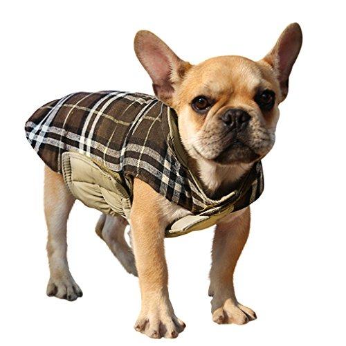 Großen Hundjacke Hundmantel Wintermantel Doppelseitig Karierten Jacke Kostüm Wasserdicht Hunde Weste Winterpullover Golden Retriever Hundebekleidung