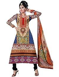 BalajiWomen's Cotton Unstitched dress material(1011-multicolor-free size)