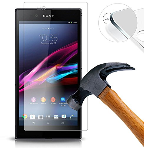 Lukoo® Tempered Glass Hartglas Schutzfolie für Sony Xperia Z Ultra XL39h Premium Screen Folie Protector Ultra Hart Displayschutz 0,3mm clear 2.5D
