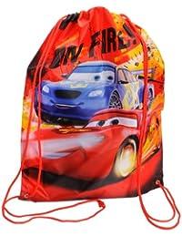 Cars-Mochila infantil, diseño de Rayo McQueen, color rojo