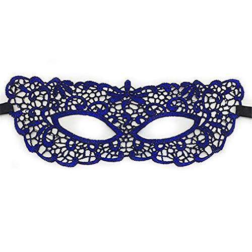 Gesichtsmaske Schild Schleier Wache Bildschirm falsche Vorderseite Halloween sexy blau Erwachsenen Spitze heißer Stempel fühlen Maske Tanz Make-up Prinzessin Partei halbe Gesichtsschutzbrillen,1