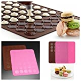 MECO 1pcs Antihaft Silikon Backmatte Backform Backfolie Kuchen Keks Form
