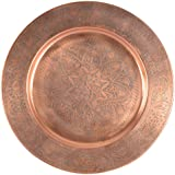 Greentouch Crafts Metal Big Size Brown Pooja Thali Pooja Workship Plate Thali | Pooja Temple | Home Hotel Restaurant | Religious Spiritual Item
