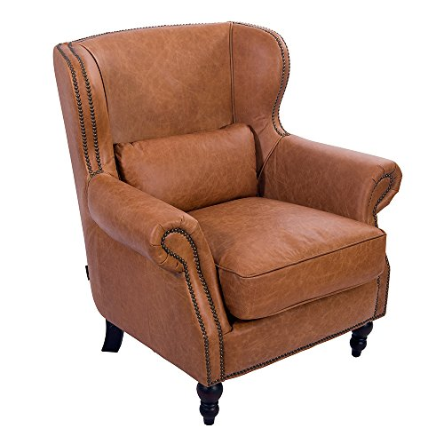 Loungesessel Studley Columbia Brown Leder Ledersessel Sessel Lehnsessel Fernsehsessel Relaxsessel