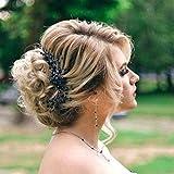 Simsly Noir mariée cheveux Vigne Argent Mariage Accessoires Cheveux mariée Coiffe pour mariée et Demoiselles d'honneur