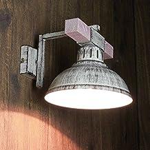 Geschmackvolle Wandleuchte In Shabby Weiß Holzfarben Vintagestil 1x E27 Bis  Zu 60 Watt 230V Aus Metall