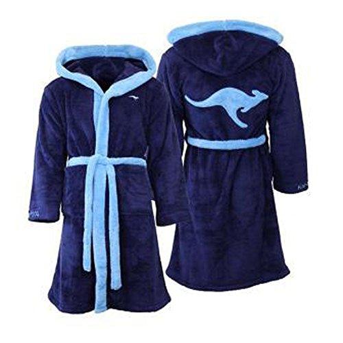 KangaROOS Bademantel Saunamantel Morgenmantel Kapuzenbademantel Hausmantel Unisex Farbe dunkelblau/blau Größe XL foolonli