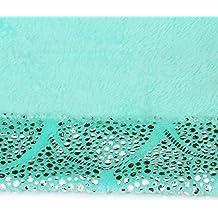 LANGRIA Manta de Cola de Sirena con Escamas de Láminas Brillantes, Tejido Franela Suave a
