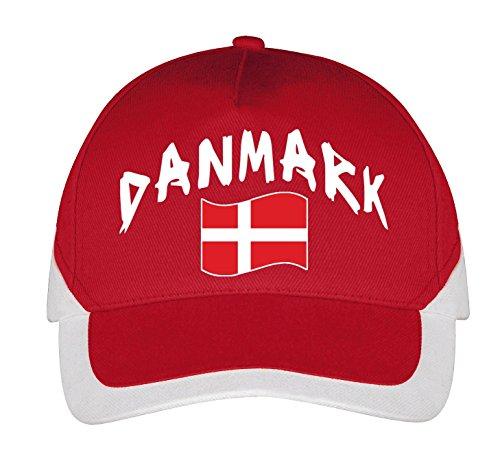 Supportershop Dänemark Cap Fußball, Rot, FR: Einheitsgröße (Größe Hersteller: Größe One sizeque)