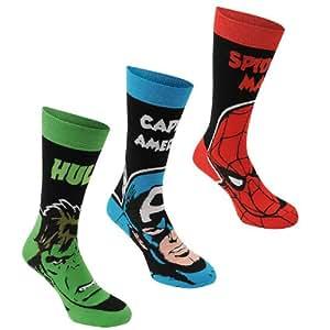 Marvel 3 Pack of Socks for Mens Hulk Spiderman and Captain America