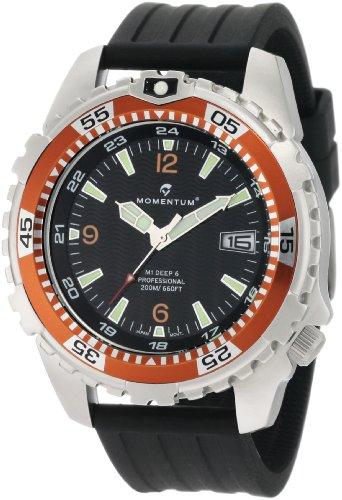 Momentum - 1M-DV06O8B - Montre Homme - Quartz Analogique - Bracelet Caoutchouc noir
