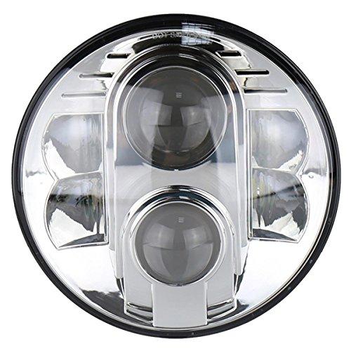 ZHUOYUE 1Stücke 7Zoll LedScheinwerfer 50Watt 30Watt H4 Hallo/Niedrig Für AutoOffroad 4X4 Städtischen Niva Projektor Daymaker JeepHarley Motorrad (Scharfe Projektor-lampe)