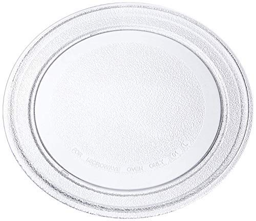 Neerjharini Microwave Oven Replacement Turntable Rotating Glass Plate/Tray with Plain Bottom Surface (Diameter 9.6-Inch/245-mm)