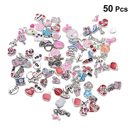 artibetter 50Pcs Floating Charm DIY für schwimmende medaillons Glass Living Memory medaillons