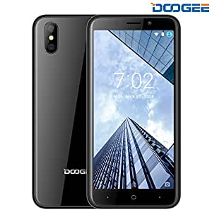 Smartphone in Offerta, DOOGEE X50 Dual SIM Android 8.1 Telefonia Mobile - 5.0 Pollici HD Schermo - 1GB RAM + 8GB ROM - Doppia Fotocamera 5.0MP + 5.0MP - Dual SIM - MT6580M Quad Core - 2000mAh Batteria (Nero)